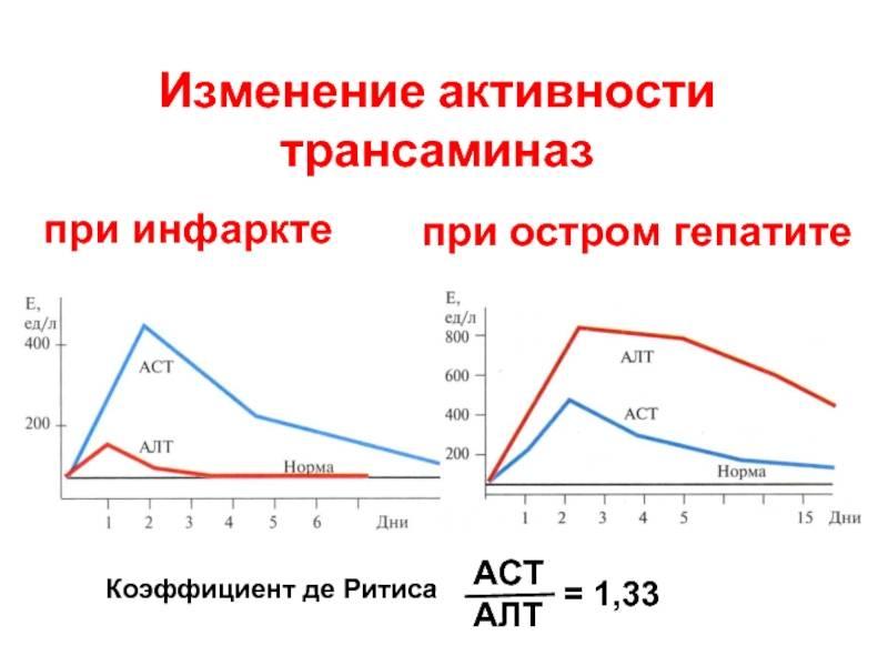 Показатели алт и аст при гепатитах