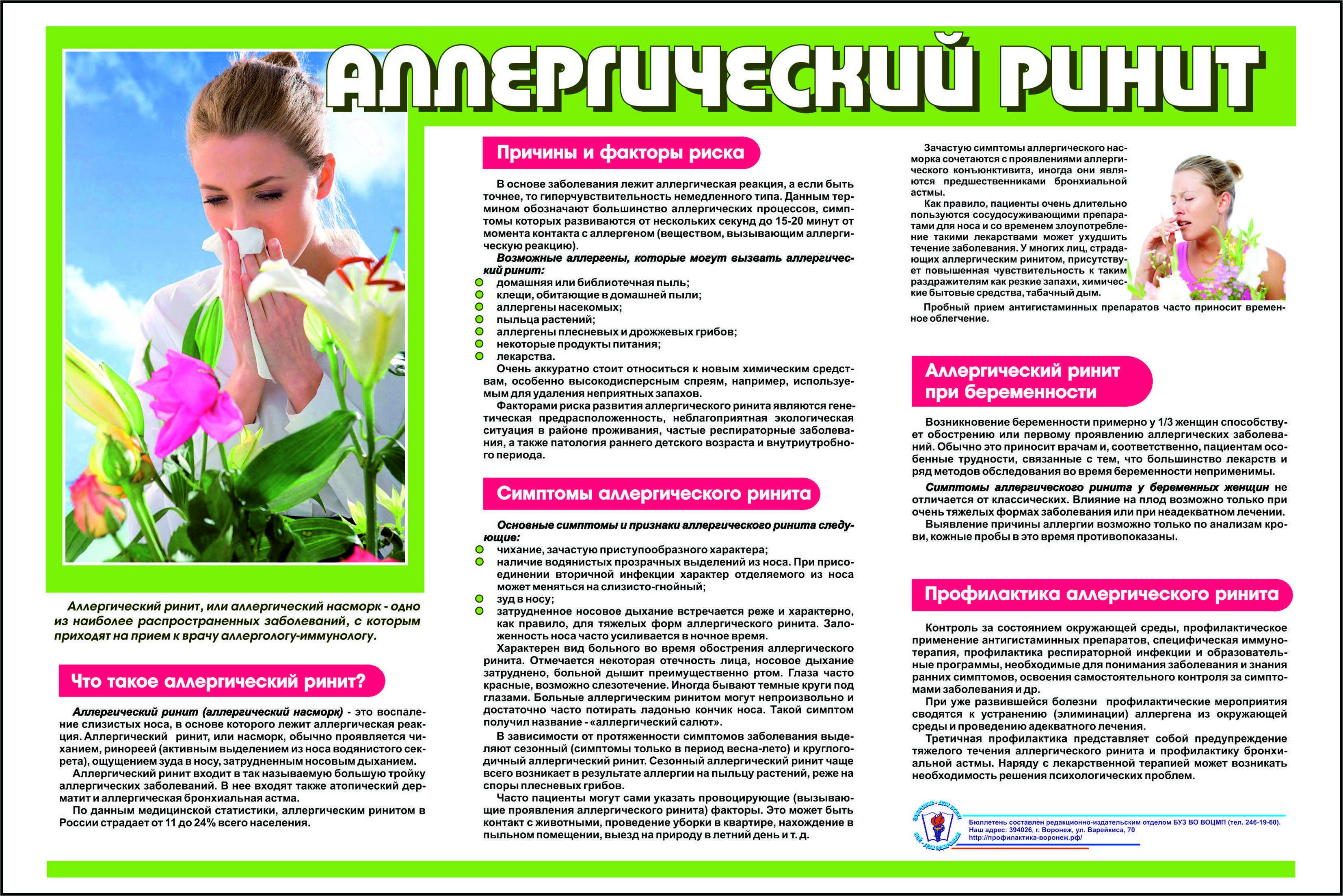 Ринит: причины, симптомы, лечение, осложнения, профилактика