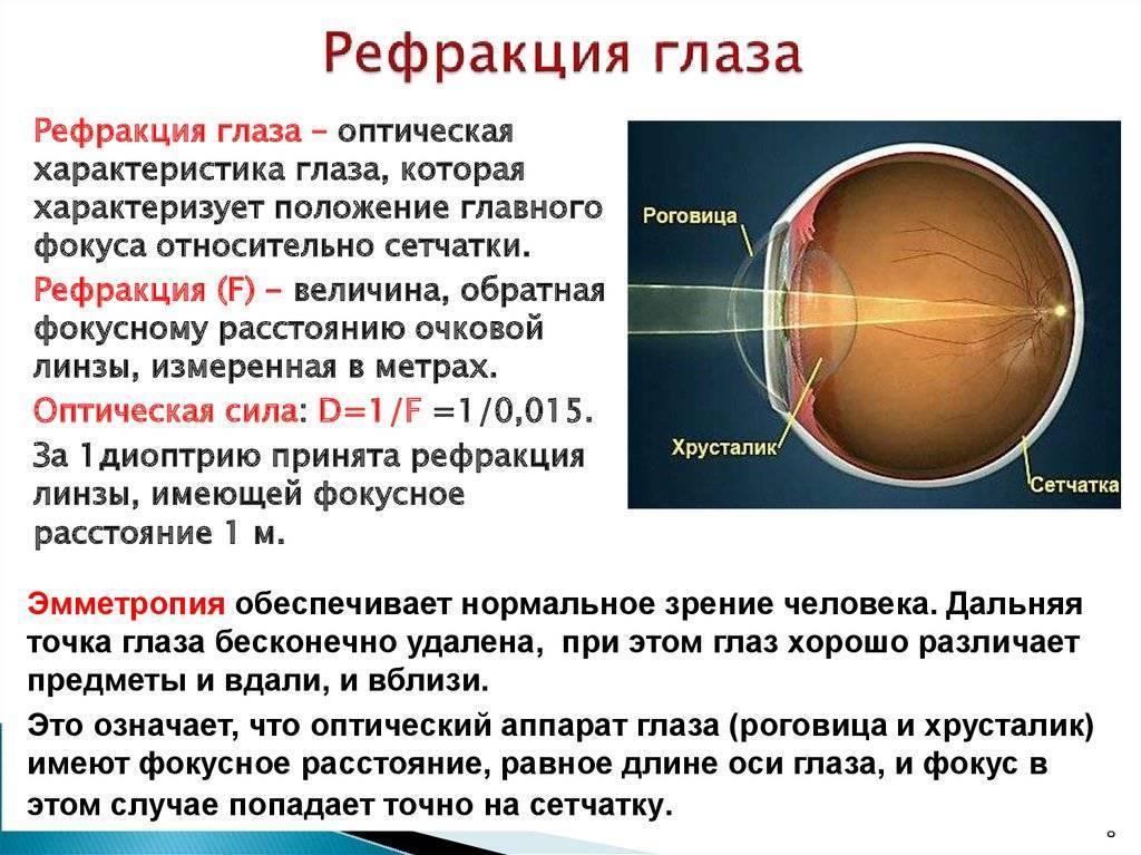 Рефракция глаза – механизм и функции