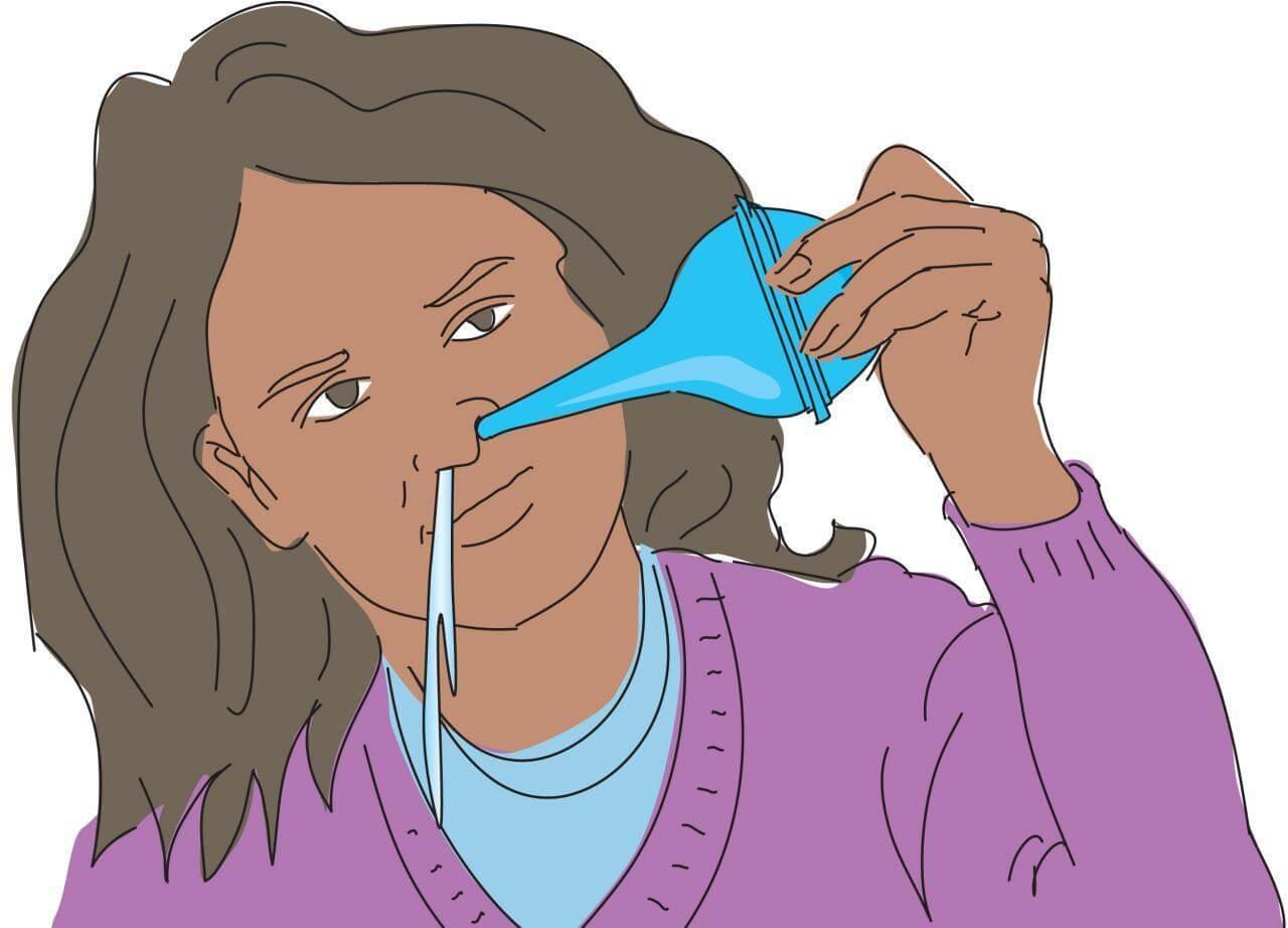 как промыть нос в домашних условиях при насморке ребенку