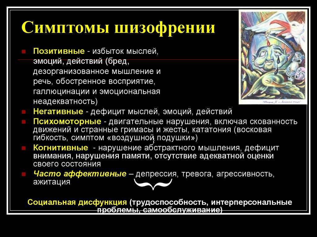 Виды и особенности шизофрении у мужчин. симптомы и виды шизофрении