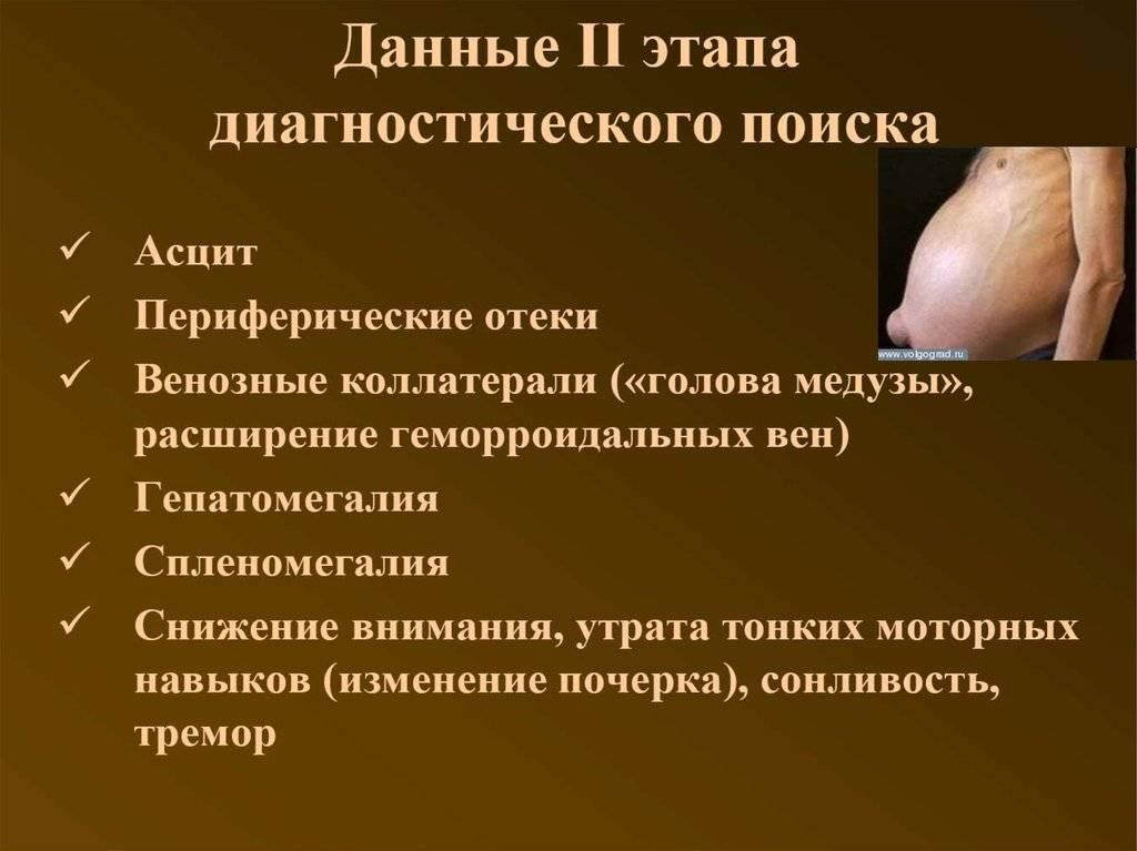 первые признаки цирроза печени у мужчин