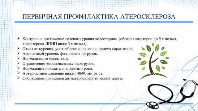 первичная профилактика атеросклероза