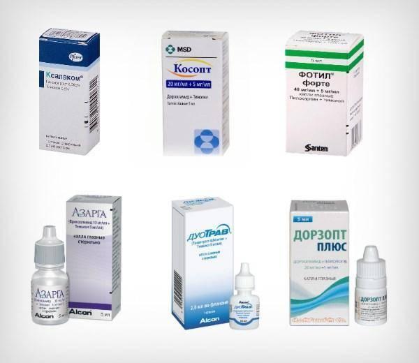 Глазные капли от глаукомы и глазного давления: типы, список