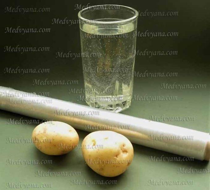 картошка на грудную клетку при кашле