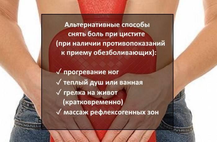 Обезболивающие при цистите у женщин: лучшие лекарства и народные средства