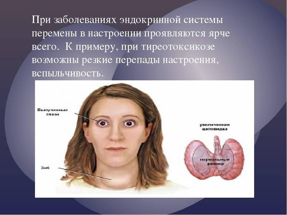 нарушение работы эндокринной системы симптомы