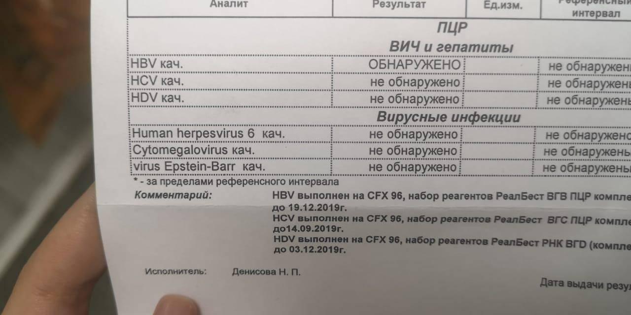 пцр рнк гепатита с качественное исследование