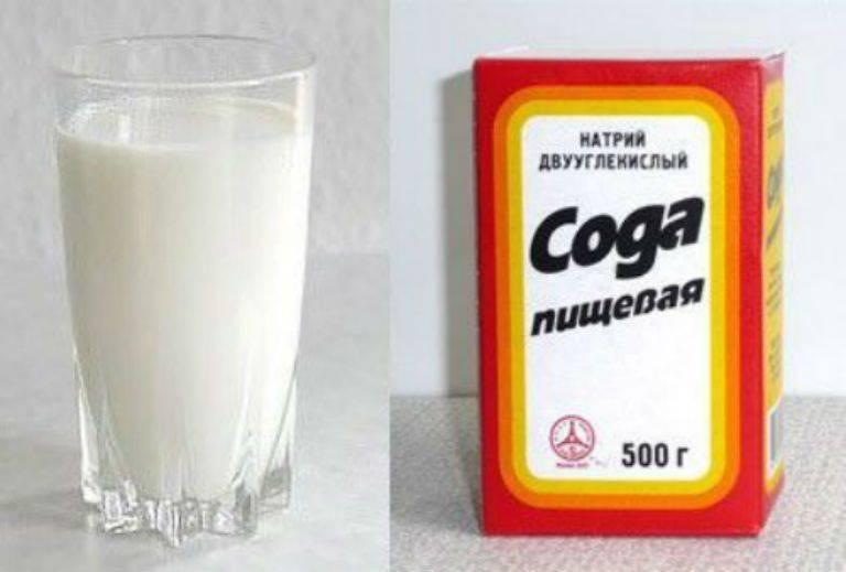 Как лечить кашель молоком с маслом и содой