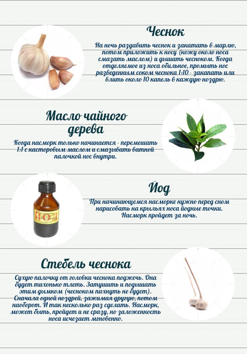 Лечение гайморита чесноком