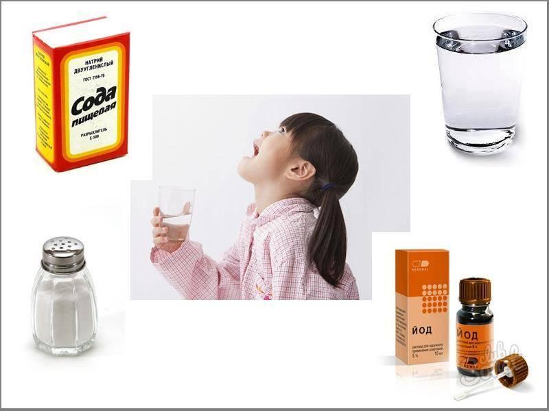 сода для горла