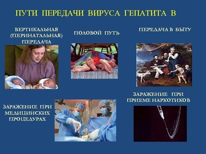 Каким образом можно заразиться гепатитом в в бытовых условиях