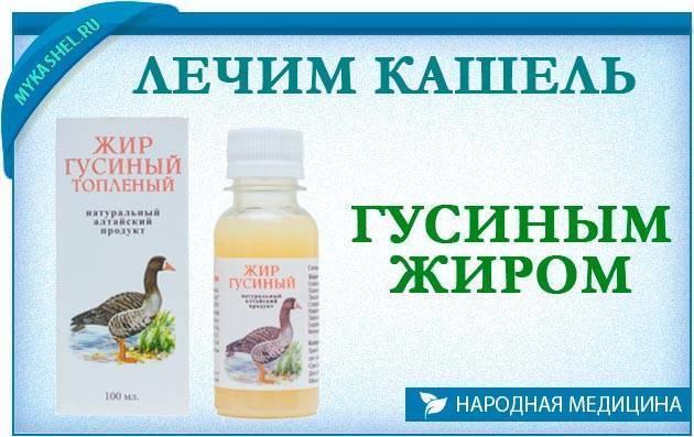 гусиный жир применение при кашле