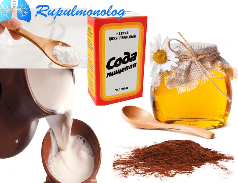 как пить молоко с содой от кашля