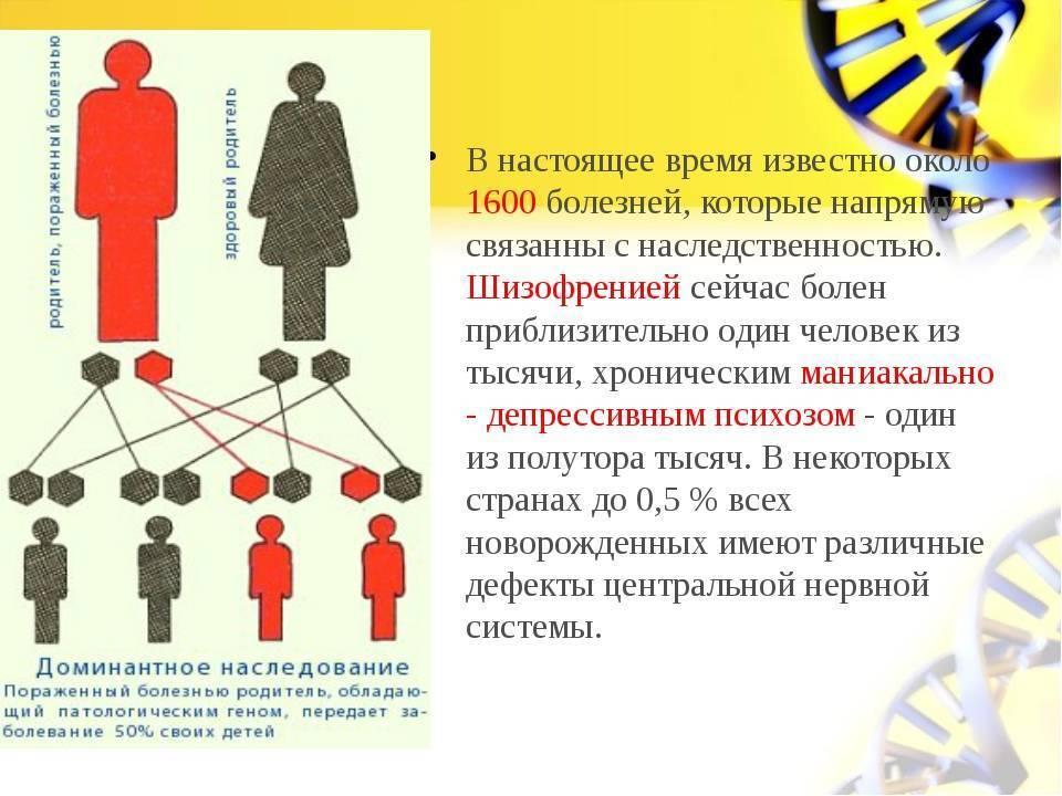 Шизофрения наследственное заболевание ✧ генетический анализ?