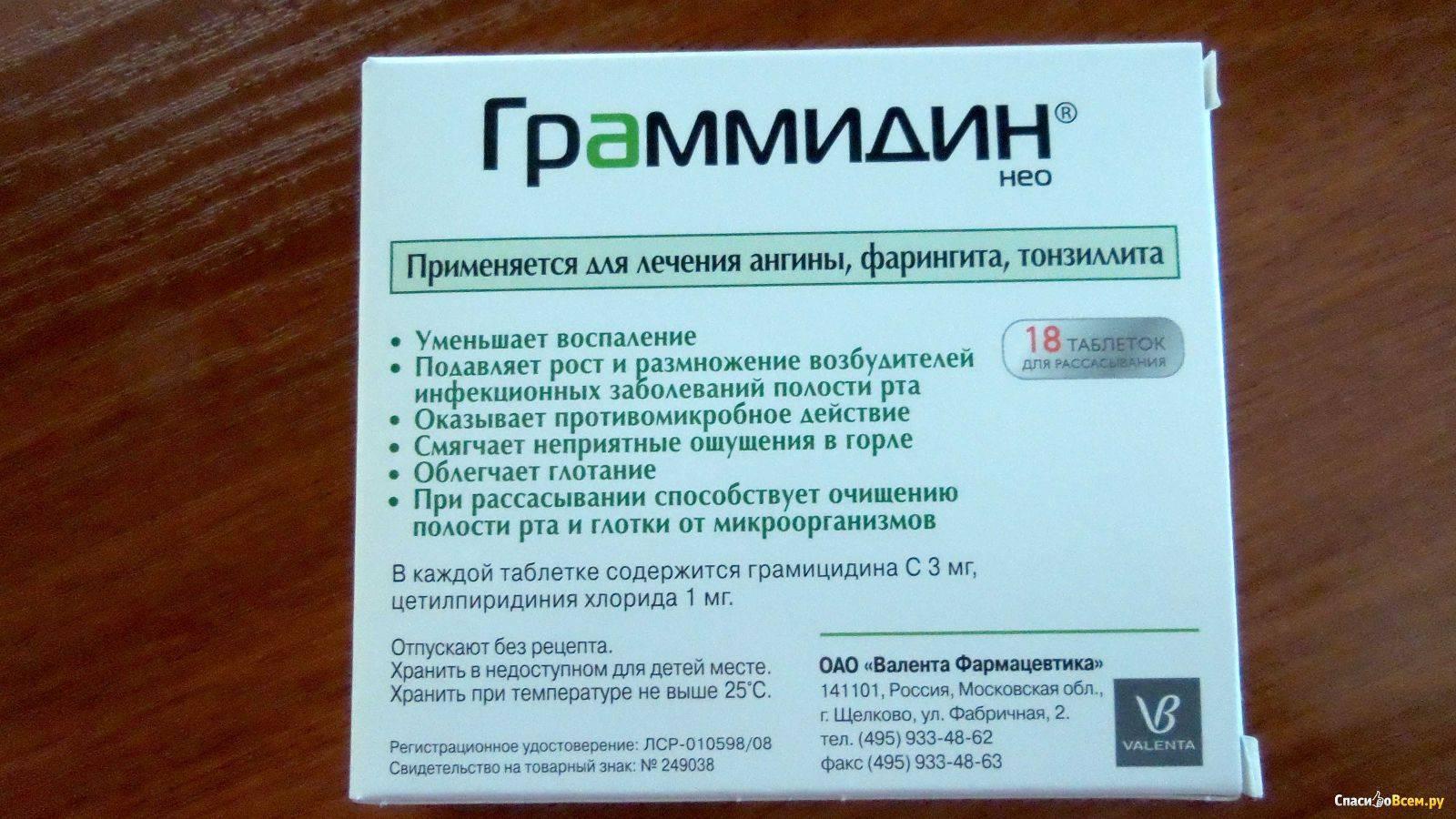 таблетки для лечения горла с антибиотиком