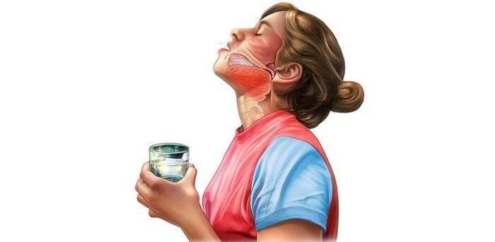 Чем полоскать горло при кашле, самые простые и доступные средства для полоскания