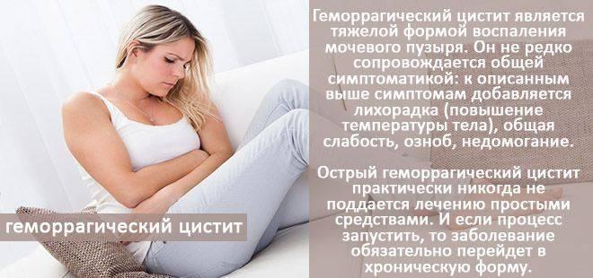 геморрагический цистит у женщин лечение