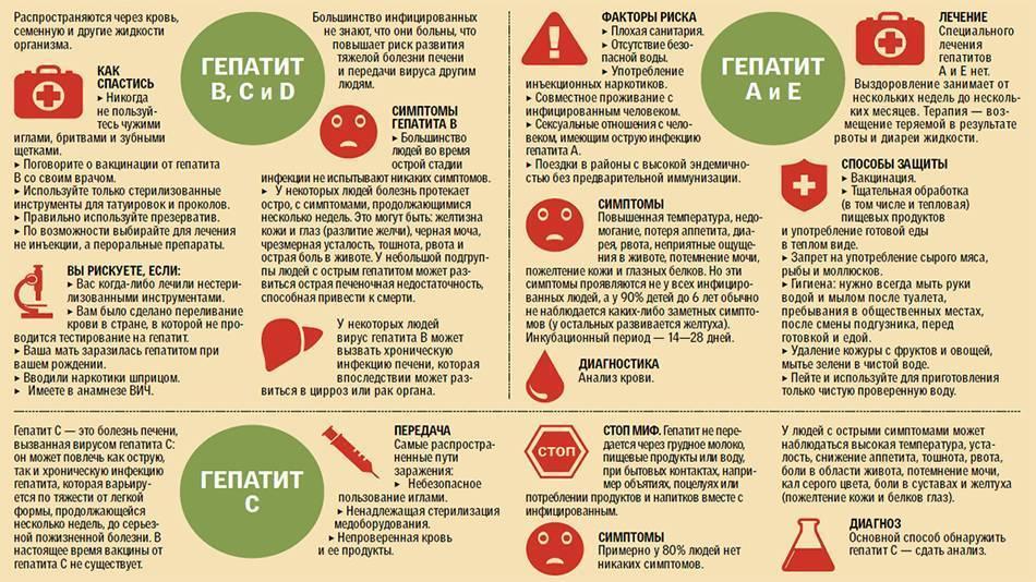 виды гепатита и симптомы