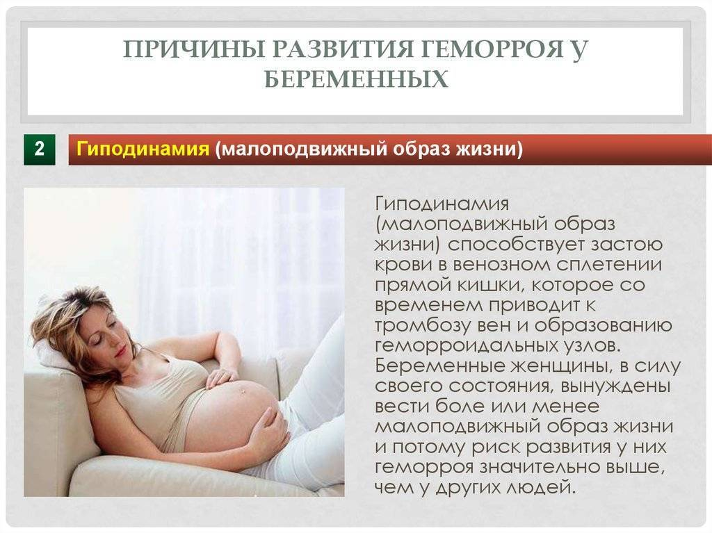 почему у беременных геморрой