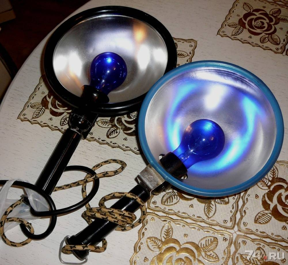 Синяя лампа для прогревания, или рефлектор минина – какую выбрать для домашнего лечения?