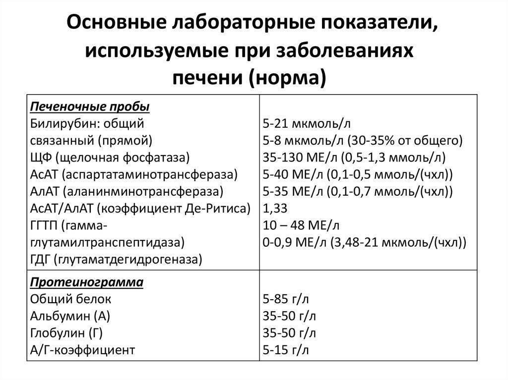 Какие показатели крови указывают на заболевание печени