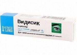 Глазной гель видисик — подробная инструкция по применению