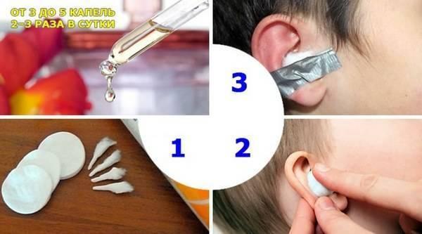 борная кислота в ухо ребенку